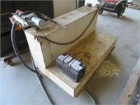 Steel L Shaped Transfer Tank with GPI Pump, Batter