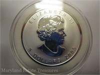 2005 Canada Maple Leaf Silver Bullion with Rooster