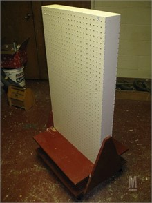 N Double Sided Pegboard Storage Unit On Wheels Other Items