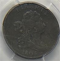 1805 1/2C Draped Bust Half Cent PCGS VF Detail