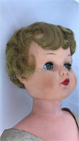 Vintage Plastic Doll Wearing Evening Gown 26""