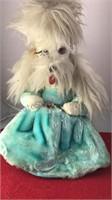 """Vintage Stuffed Poodle Pajama Bag 16"""" Tall"""