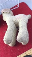 "Vintage Stuffed Baby Toys Ball and Sheep 11"" Tall"