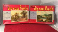 2 Vintage Croxley 500pc Jigsaw Puzzles