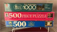 3 Vintage Landscape Jigsaw Puzzles