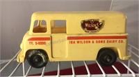 Vintage Wilson's Dairy Milk Truck Plastic Coin