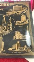 "Vintage Las Vegas Glass Tray 9x7"" and Vintage Las"