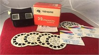 Vintage View Master Viewer With Collection of