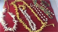 Collection of Vintage Seashell Necklaces and
