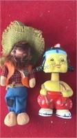 Vintage Bobble Head Native American and Plush