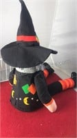3pcs Halloween Decorations Plush Witch Seated