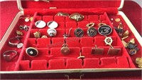 Collection of Vintage Cuff Links Tie Bars and