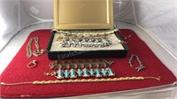 Collection of Vintage Bracelets Necklaces and