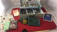 Vintage Jewelry Box With Contents Includes Some
