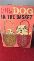 Vintage Mechanical Toy Little Dog in the Basket