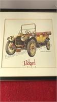 3 Matching Jerome D Biederman Antique Car Prints
