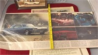 2Vintage Auto Photographs and Advertising 1965