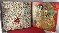 """2 Vintage Jigsaw Puzzles Boxes Are 14x14"""""""