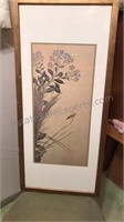 "Framed Watercolor Print 16x35"""