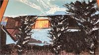 """5HG Weil Framed Winter Scene 28x32"""""""