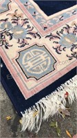 American Alternative Area Rug Wool with Fringed