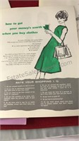 Collection of 1960's Beauty Tip and Fashion