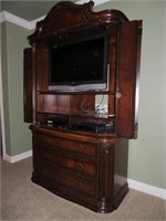 Entertainment Center with Vizio TV, Sony DVD & VHS