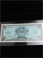 1943 Allied military currency 1000 Lire