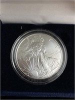 One American eagle silver dollar from 2003