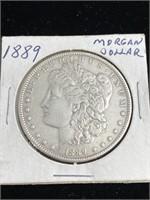 1889 United States Morgan dollar coin