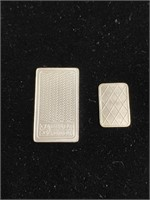 Two separate pieces of silver bars (5gs and 1g)