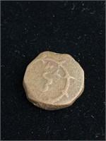 Antique bronze Indian coin