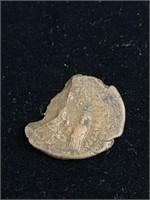 Antique bronze Spanish coin
