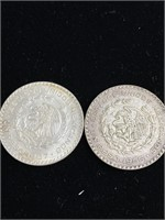 1966 and 1968 Spanish silver coin
