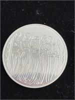1996 Israel 2 sheqalim silver coin