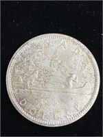 1965 Canadian dollar coin