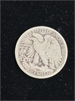 1917 Liberty half silver dollar coin