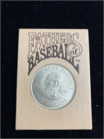 Fathers of baseball 1992 5 dollar coin