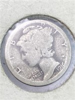 1916 United States Mercury Dime