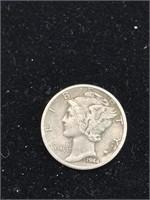 3 United States Mercury Dimes (1942,1943,1944)