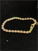 Jewel necklace and bracelet/sand dollar necklace