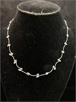 Metal necklace lot