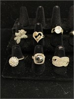 10 assorted rings lot