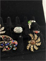 Large assorted rings lot