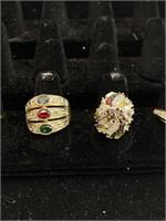 6 beautiful rings lot
