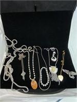Necklace bracelet and pin lot