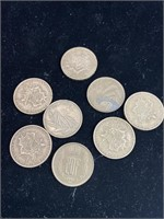 Lot of French and belgie coins