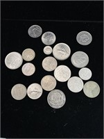 French and belgique coins