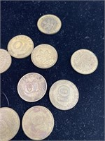 Large lot of French and German coins