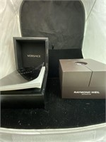 Versace and Raymond Weil empty boxes